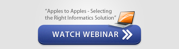 Watch Webinar: Apples to Apples Selecting the Right Informatics Solution