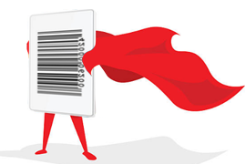 Barcode with cape