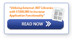 """Read Now: """"Utilizing External .NET Libraries with STARLIMS to Increase Applications Functionality"""""""