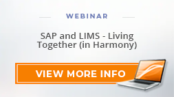 "Webinar: ""SAP and LIMS - Living Together (in Harmony)"""