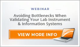 "Webinar: ""Avoiding Bottlenecks When Validating Your Lab Instrument and Information Systems"""