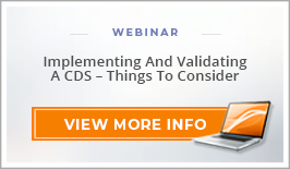 "Webinar: ""Implementing and Validating a CDS - Thing to Consider"""