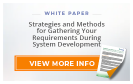 "White Paper: ""Strategies and Methods for Gathering Your Requirements During System Development"""