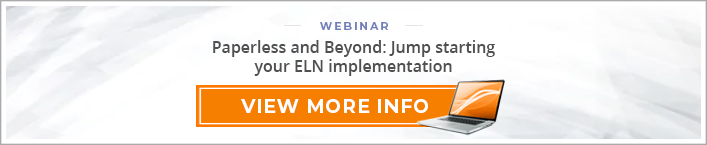 "Webinar: ""Paperless and Beyond: Jump starting your ELN implementation"""