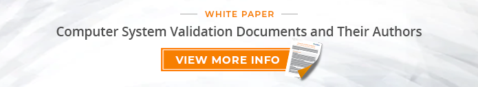 "White Paper: ""Computer System Validation Documents and Their Authors"""
